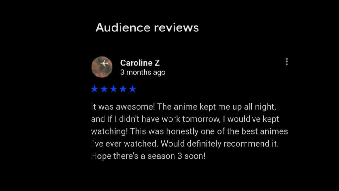 google review for magi season 3